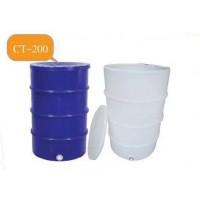 CT-200 (ถังทรงกระบอก) :  ถังทรงกระบอก  ความจุ 200 ลิตร  ทรงกระบอก-ฝาครอบ มีลอนด้านข้าง